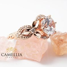 Forever Brilliant Round Moissanite Engagement by CamelliaJewelry
