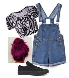 """summer night out"" by imogengh ❤ liked on Polyvore featuring Chicnova Fashion and Converse"