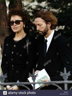 Eric Clapton Singer And Rock Guitarist With The Mother Of His Son Stock Photo, Royalty Free Image: 20285777 - Alamy