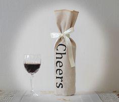 Wine Gift Bag Wine Bag for Wedding Linen Wine Holder