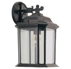 View the Sea Gull Lighting 84031 Kent 1 Light Outdoor Lantern Wall Sconce at LightingDirect.com.