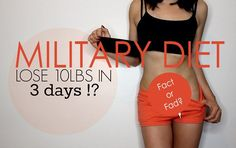 A lot of people swear by the Military Diet, which claims you can lose around 10 pounds in 3 days. Is that really possible? Does the military diet really work? We're going to look at ev…