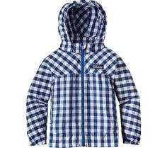 Infants/Toddlers Patagonia Baby High Sun Jacket - Gingham/Superior Blue - FREE Shipping & Exchanges