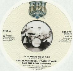 BEACH BOYS & FRANKIE VALLI FOUR SEASONS East Meets West GROUP ROCK 45 RPM  #RocknRoll