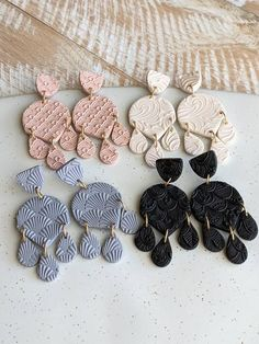 Fabric Jewelry, Diy Jewelry, Jewellery, Polymer Clay Tools, Polymer Clay Jewelry, Biscuit, Diy Clay Earrings, Clay Texture, Handmade Gifts For Her