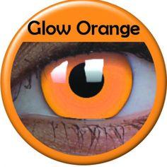 Orange Glow Coloured Contacts