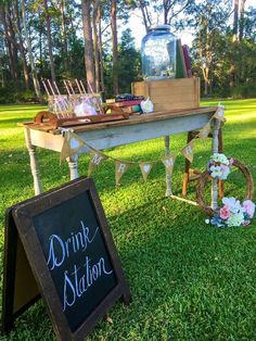 Drinks station by Cloud Nine Weddings