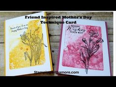 Friend Inspired Mothers Day Technique Card - YouTube