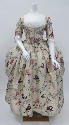 Robe à la Polonaise Date: ca. 1780 Culture: French Medium: silk