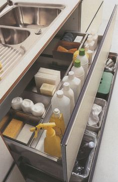 Our Dream Kitchen - Inspirations and Dreams - super organised kitchen drawers