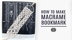 How to make an elegant macrame bookmark. It is a bookmark with value and it can be a gift for your friends and family! 🔖 This bookmark creating is not expens. Macrame Bracelet Patterns, Macrame Bracelet Tutorial, Macrame Patterns, Macrame Bracelets, Loom Bracelets, Macrame Art, Macrame Projects, Macrame Knots, Micro Macrame