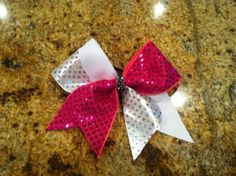 Sequin Wave Bow by SavvysCheerBowtique on Etsy Only $16!