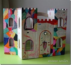 I know a few kiddos who would just love to do this! they sell castles like this at WalMart and Target