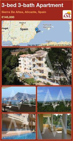 3-bed 3-bath Apartment in Sierra De Altea, Alicante, Spain ►€145,000 #PropertyForSaleInSpain