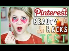 6 PINTEREST BEAUTY HACKS GETESTET - Lippenstift als Concealer?! - YouTube
