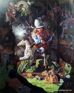 Bob Byerley A Long Wait until Dark S//N Halloween Art Print with Cert