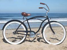 sixthreezero Men's BE Single Speed Black Beach Cruiser Bike Velo Beach Cruiser, Cruiser Bicycle, Bicycle Art, Bicycle Paint Job, Bicycle Painting, Bici Fixed, 26 Beach, Bicycle Store, Motorised Bike