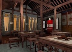 Chinese Interior Design   Chinese teahouse interior design   3D house, Free 3D house pictures ...
