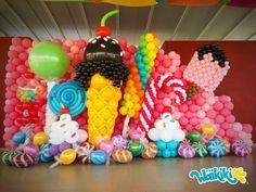 Candy Theme Birthday Party, Birthday Balloon Decorations, Candy Decorations, Carnival Birthday Parties, Party Decoration, Birthday Diy, Party Candy, Turtle Birthday, Turtle Party