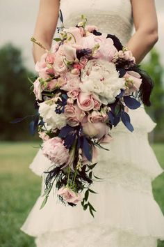 Amazingly perfect.. that would go great with my navy bridesmaid dresses!