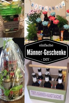 einfache DIY Männer-Geschenke z. als Geburtstags- oder Vatertagsgeschenk The Effective Pictures We Offer You About mothers day gift A quality picture can tell you many things. Diy Gifts For Men, Diy Gifts For Friends, Diy For Men, Gifts For Him, Men Gifts, Fathers Day Presents, Diy Presents, Presents For Men, Fathers Gifts