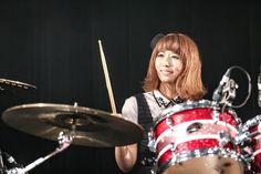 Japanese Girl Band, Girl Bands, These Girls, Maid, Wonder Woman, Drummers, Beauty, Maids, Wonder Women
