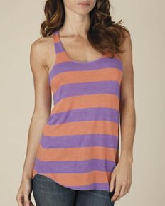 Alternative apparel Ugly Stripe Tank top! Women's tank tops for screen printing, embroidery, fashion, etc. aa1927s