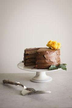 Whole Wheat Banana Cake with Avocado Chocolate Frosting [RSF] — Madeline Hall