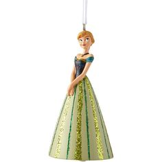 Disney Collection Anna Ornament (£6.32) ❤ liked on Polyvore featuring home, home decor, holiday decorations, disney holiday decor, disney christmas ornaments, disney christmas tree ornaments, princess christmas ornaments and disney home decor