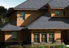 Ето как изглеждат стоманени керемиди на къща! Mansions, House Styles, Outdoor Decor, Home Decor, Decoration Home, Manor Houses, Room Decor, Villas, Mansion
