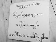 Unique #wedding #seating #plan