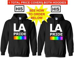 LA PRIDE His and His Lgbtq Pride Hoodie Equality by ALLGayTees