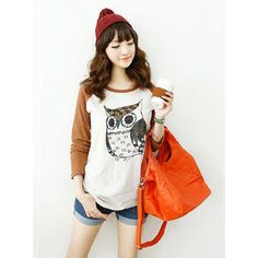 Buy 'Dodostyle – Owl-Print Raglan-Sleeve T-Shirt' at YesStyle.com plus more South Korea items and get Free International Shipping on qualifying orders.
