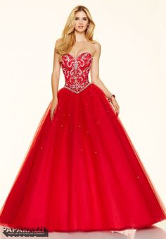 Prom Dress 98120 Jeweled Beading on a Tulle Ball Gown