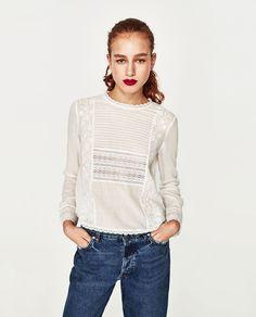 Imagine 1 din TOP CU BRODERIE de pe Zara