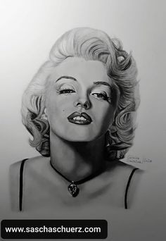 Marilyn Monroe drawing by Sascha Schürz. Black Pencil, Pencil Art, Marilyn Monroe Drawing, Drawing Tutorials For Beginners, Album Cover, Charcoal Portraits, Charcoal Drawing, Portrait Art, Sketches