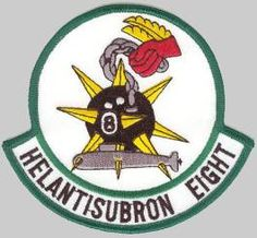 HS-8 Eightballers helicopter anti submarine squadron HELANTISUBRON EIGHT - US Navy