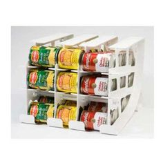 FIFO Can Tracker Food Storage Can Rotator Pantry Shelf Organizer Food Rotation Van Storage, Food Storage Organization, Canned Food Storage, Pantry Storage, Storage Rack, Kitchen Storage, Storage Ideas, Organizing Ideas, Food Pantry Organizing