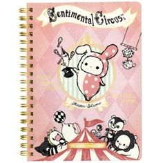 San-X Sentimental Circus A6 Lined Hard Cover Pocket Notebook: Pink