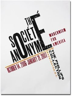 Societe Anonymé poster for the Phillips Collection