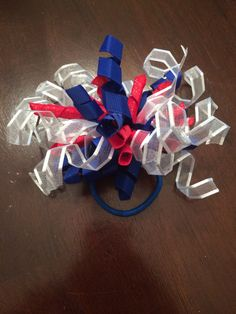 Red white and blue 4th of July Independance Day baby headband child hair bow korker ponytail holder by CreationsbySAHM on Etsy https://www.etsy.com/listing/201037787/red-white-and-blue-4th-of-july