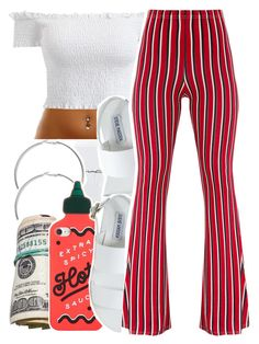 A fashion look from August 2017 featuring off-shoulder tops, jersey pants and platform shoes. Browse and shop related looks. Swag Outfits For Girls, Boujee Outfits, Teenage Girl Outfits, Cute Outfits For School, Teen Fashion Outfits, Cute Casual Outfits, Fashion Mode, Teenager Outfits, Girly Outfits