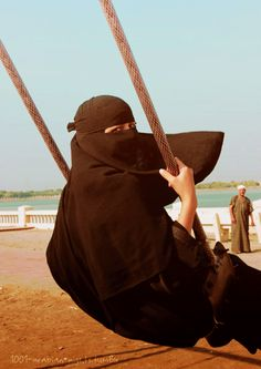 A grownup is a child with layers on. Besides, swinging feels awesome. Niqab love!