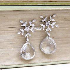 winter wedding earrings $34