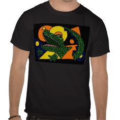 Awesome Alligator Art T Shirts #alligators #shirts #art #zazzle #petspower #abstract