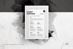 Resume/CV - Casey by bilmaw creative on For those looking for a professional template, 'Casey' offers a unique minimal​ design, plus matching cover letter (including sample letter). Cover Letter Template, Cv Template, Letter Templates, Resume Templates, Templates Free, Resume Cv, Resume Design, Resume Tips, Resume Examples