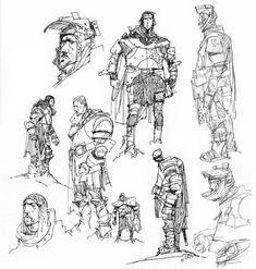 Ian McQue Sketches On Twitter | Here are some space dudes inspired by the aesthetic of 1970's ...