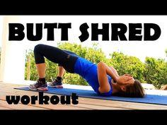 A trizar glúteos rutina - Butt shred workout