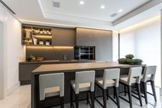 Modern Kitchen Design, Decoration, Interior Design, Inspiration, Table, Furniture, Home Decor, Restaurants, Kitchens