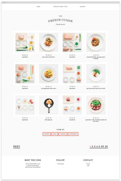 French Cuisine - Web Design | via Designspiration